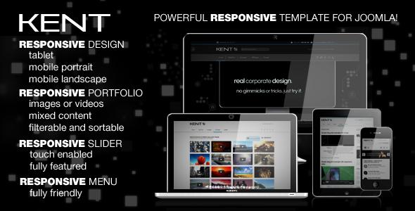 Kent Responsive Joomla 3.0 Template