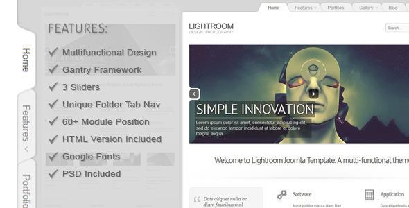 Lightroom Joomla 2.5 Template