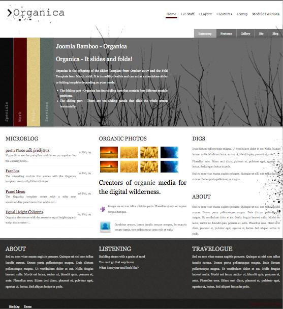 Organica - Natural White Joomla Template