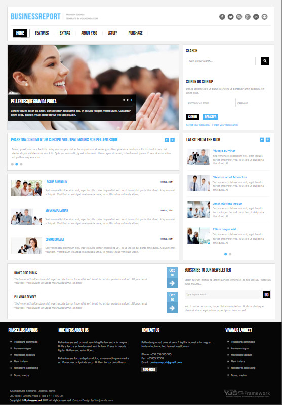 Business Report Responsive Joomla Template