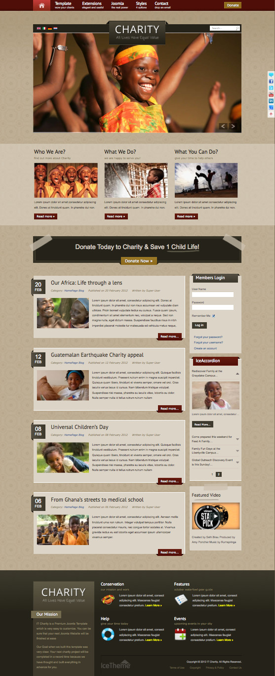 IT Charity Joomla Non-Profit Template