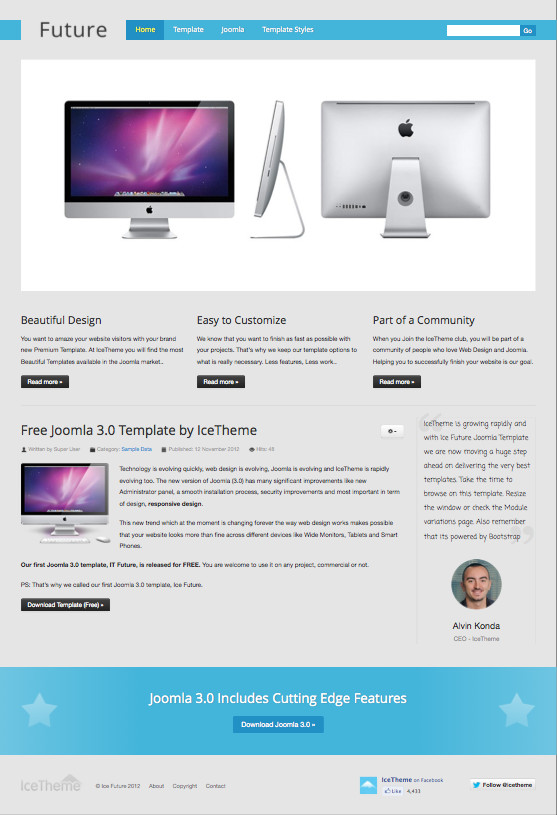 IT Future Free Responsive Joomla 3 0 Template