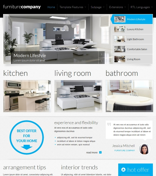 JM Exclusive Furniture Responsive Joomla Template