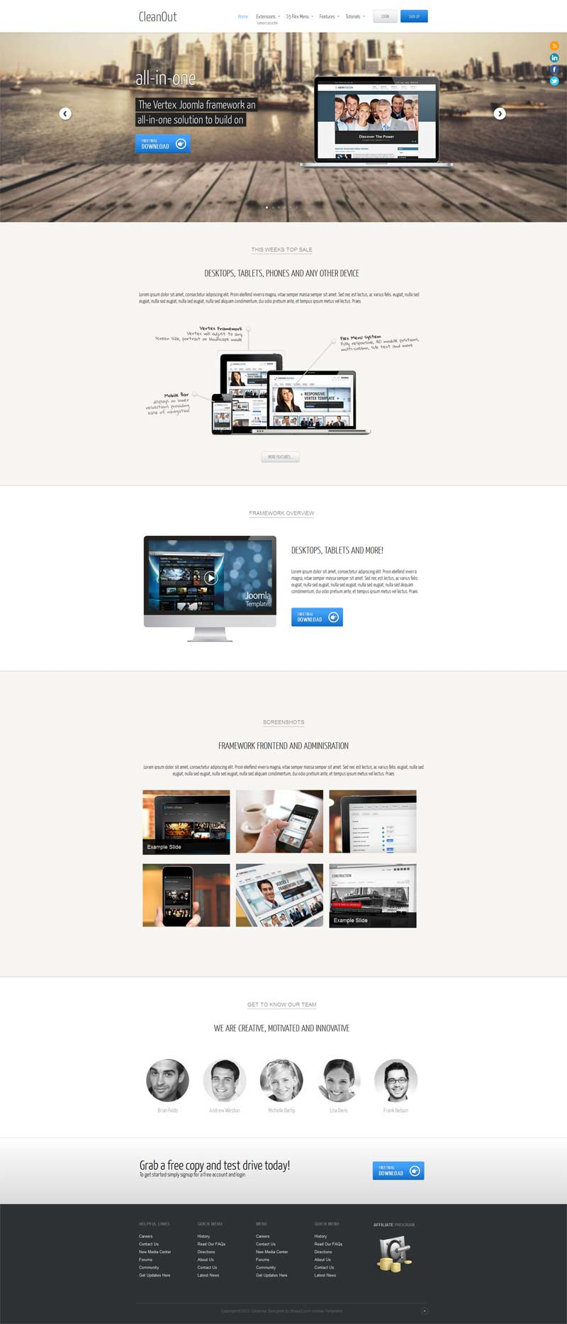 CleanOut Joomla Promoting Template