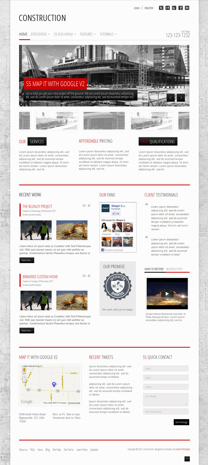 Construction WordPress Building Contractors Theme