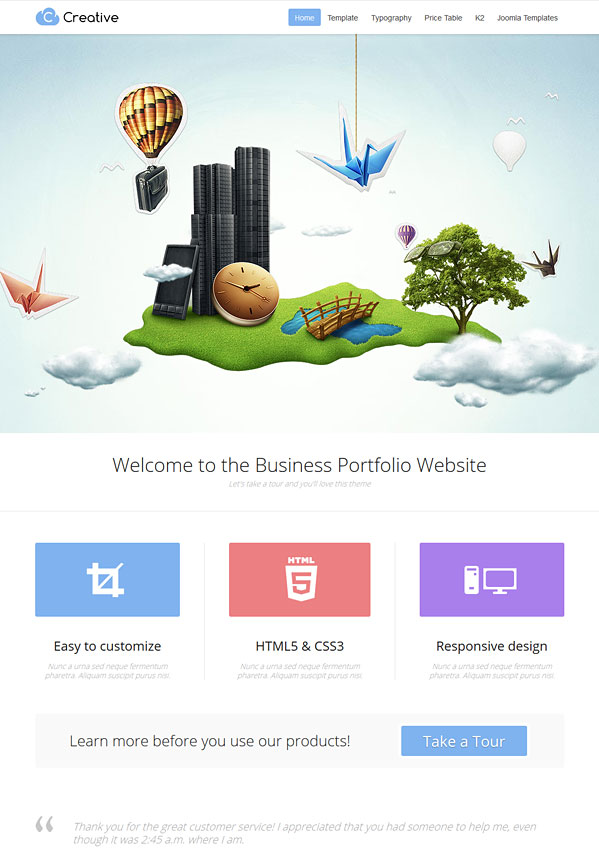 Creative Joomla 2.5 Business Portfolio Template