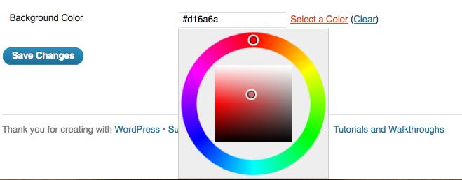 Custom Color Choices