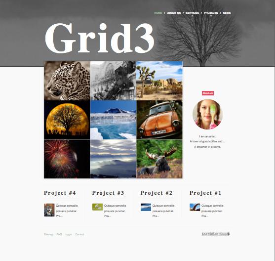 Grid3 Responsive Joomla Photographer Template for Photo Sites