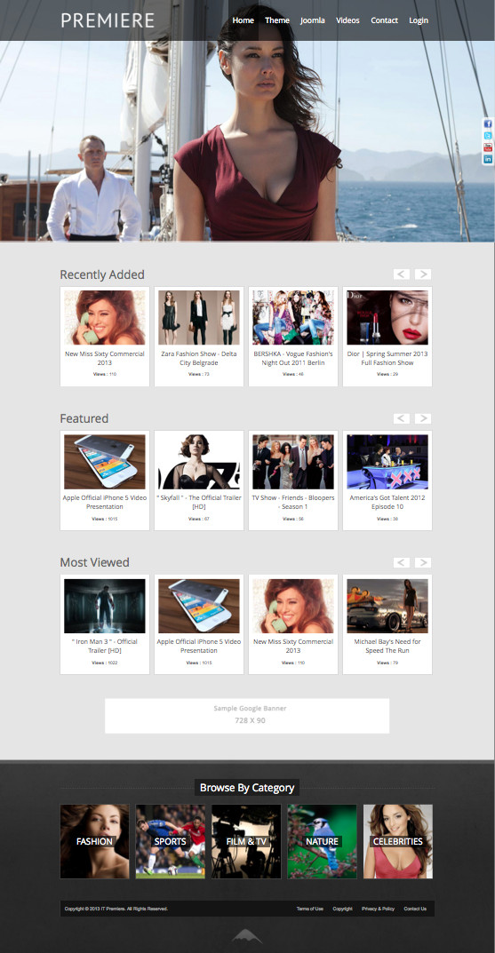 Ice Premiere Joomla Video Hosting Template