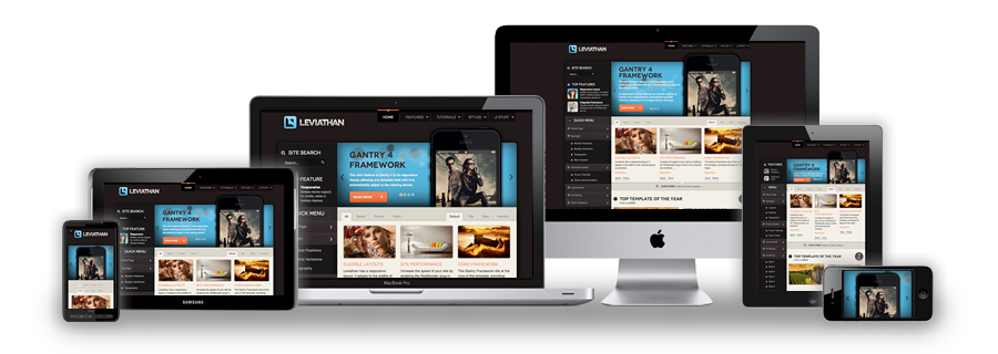 Leviathan Joomla Responsive Touch Swipe Template