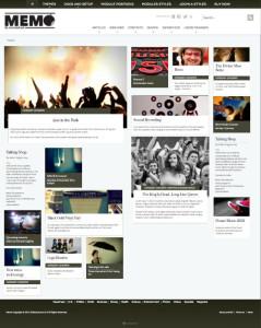 Memo Responsive Joomla Pinterest Style Template