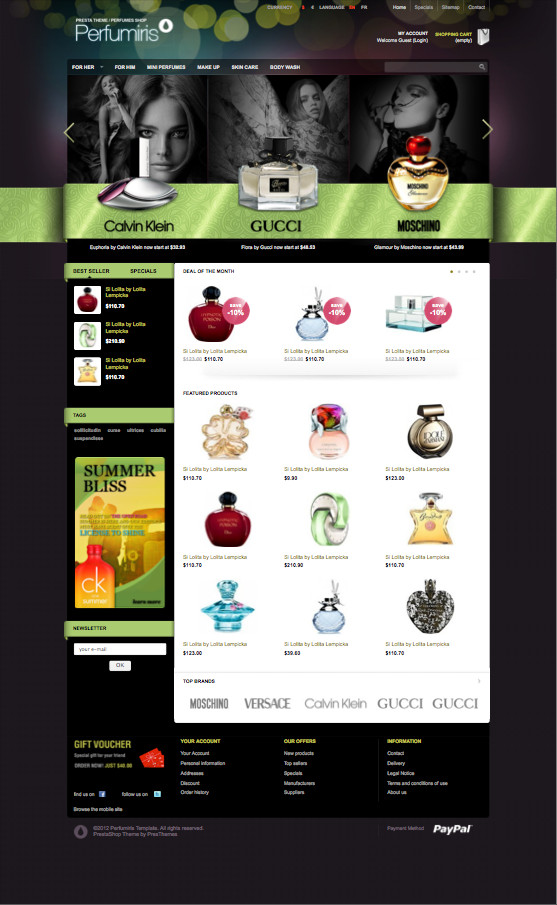 Perfumiris PrestaShop Perfume Theme