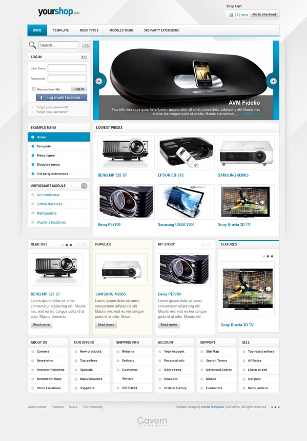 YourShop Joomla 2.5 eCommerce Shop Template