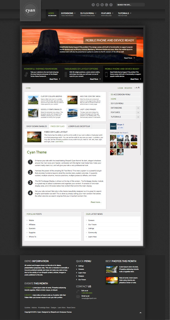 Cyan Responsive WordPress Theme