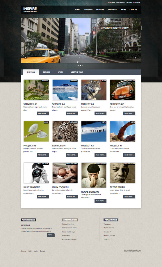 Inspire Responsive Joomla Business Template