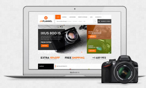 JM Flannel Responsive Magento Theme for Camera & Mobile Stores