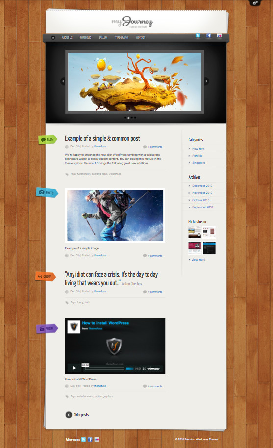My Journey WordPress Personal Blog Theme