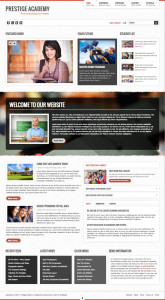 Prestige Academy Joomla Template for Education & Institutions