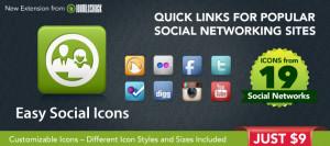 Easy Social Icons Joomla Module