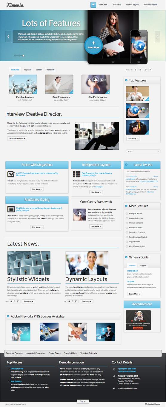 Ximenia Responsive WordPress Corporate Theme