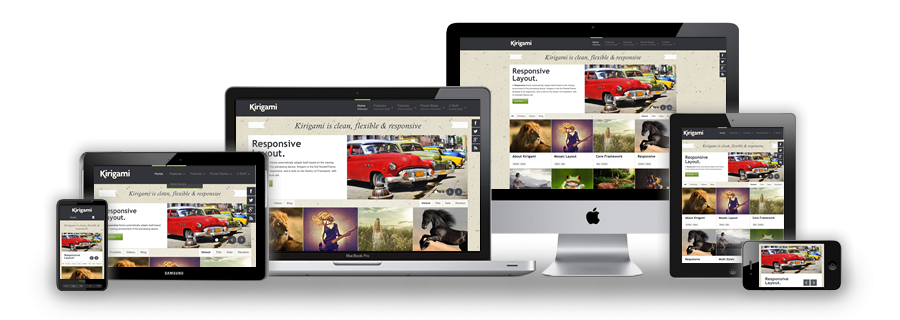 Kirigami WordPress Responsive Layout Theme