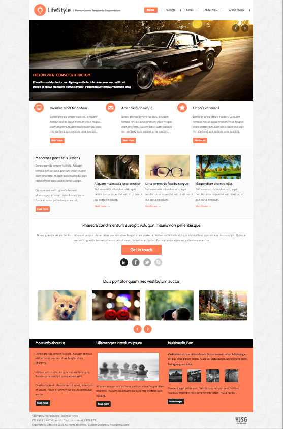 Lifestyle Joomla Photographer Portfolio Template