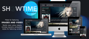 Showtime Responsive Joomla Template for Featuring Images & Videos
