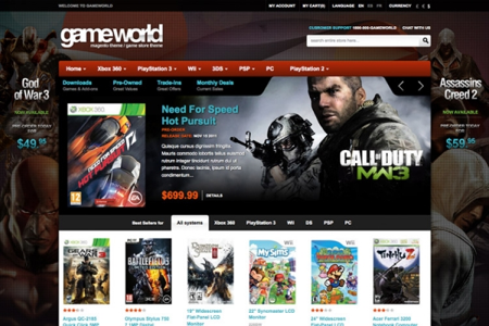 Game World Magento Theme