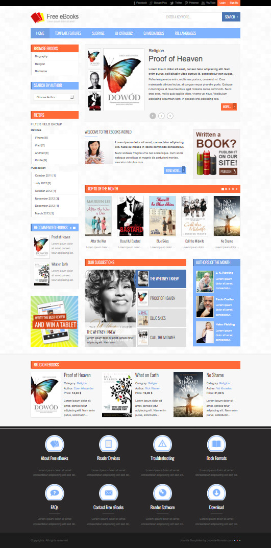Jm free ebooks joomla template create downloadable for Free joomla template creator software
