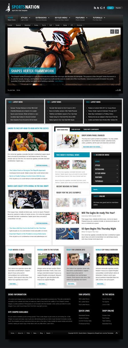 Sports Nation WordPress Responsive Sports News Theme