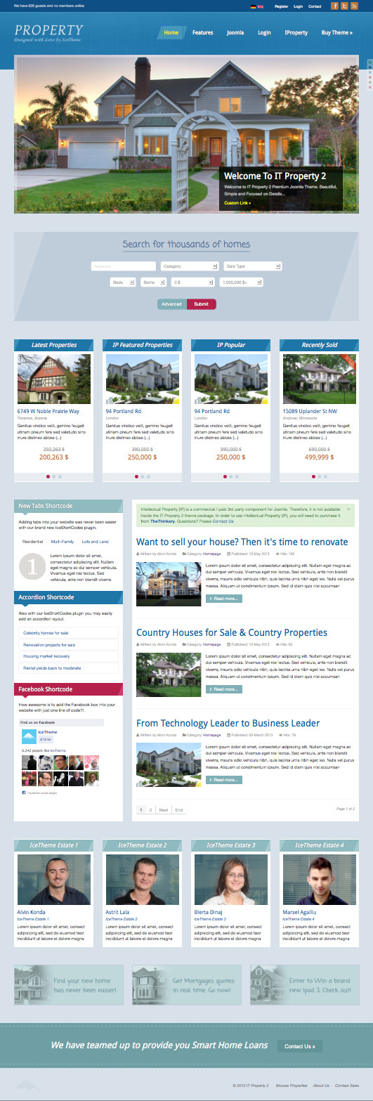 it property a responsive joomla template for realty business it property 2 joomla real estate template
