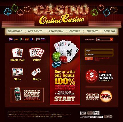 Poker website templates