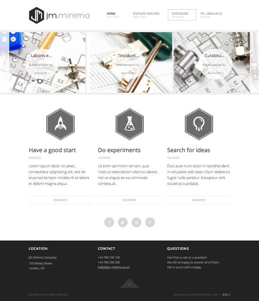 JM Minima Joomla Presentation of Products Template