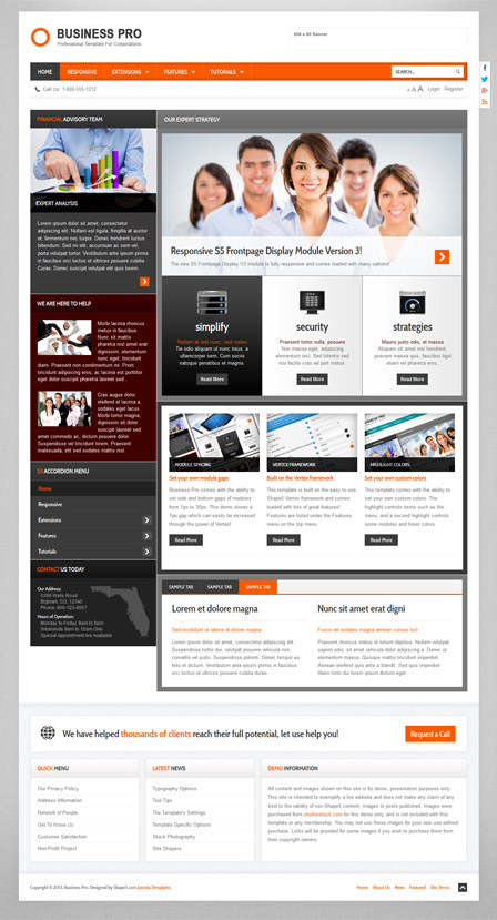 Business Pro Joomla 2.5 and 3.1 Template
