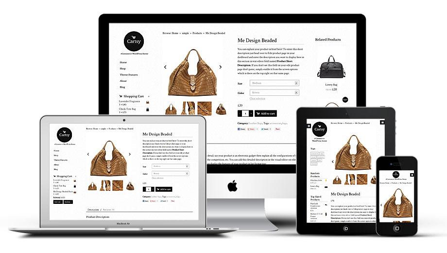 Cartsy WordPress Theme Responsive Layout View