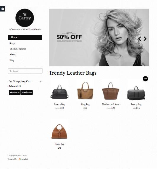 Cartsy WordPress eCommerce Theme