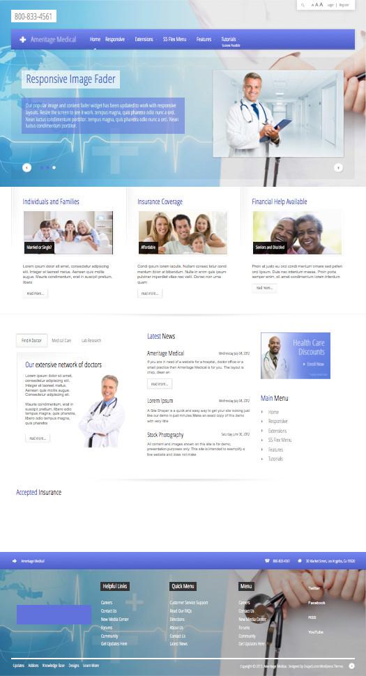 Ameritage Medical WordPress Hospital Theme