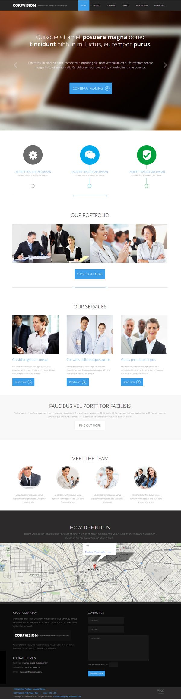 Corpvision Joomla One Page Responsive Template