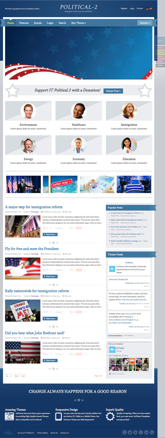 IT Political 2 Joomla Government News Template