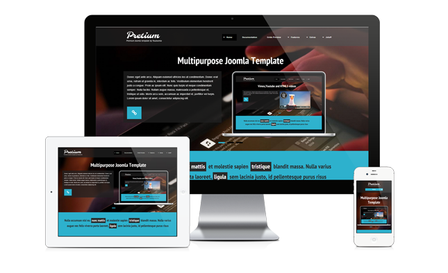 Pretium responsive Joomla Multi-purpose Template