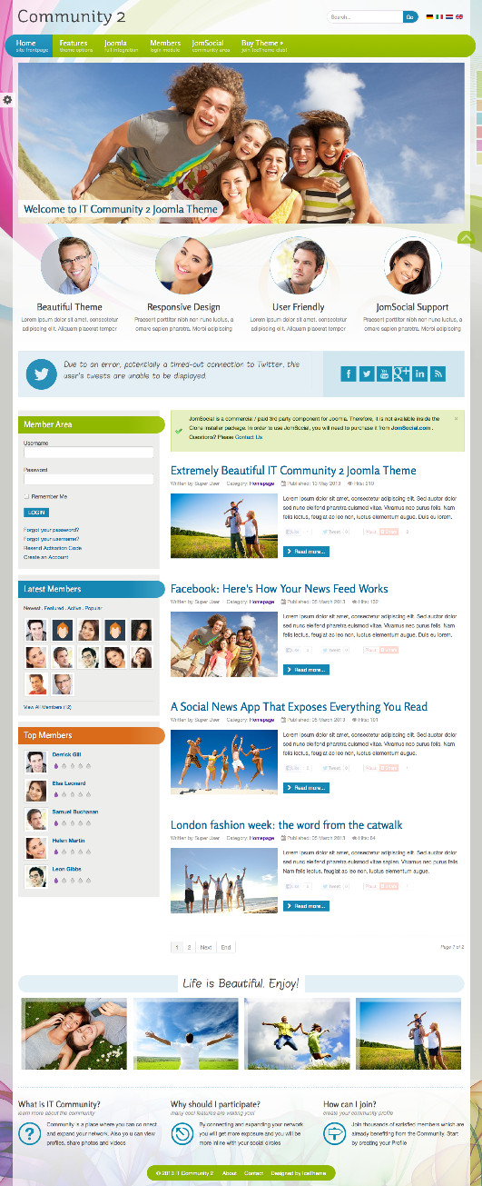 IT Community 2 Joomla Template