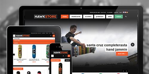 JM Hawkstore Magento Skate Store Theme
