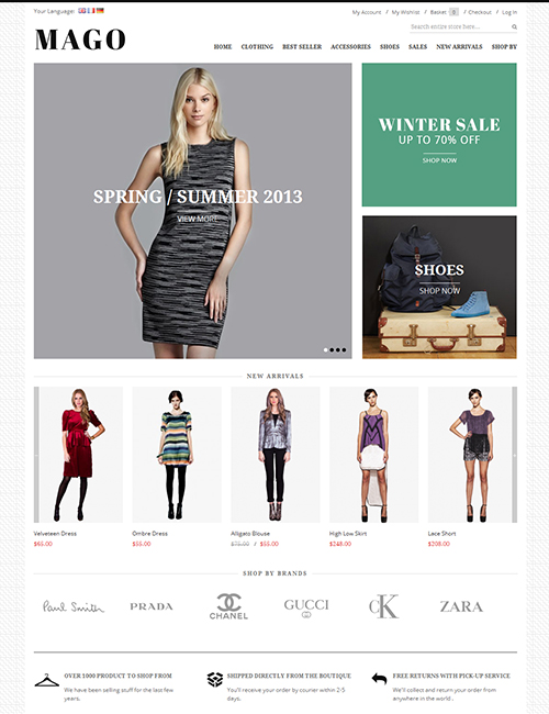 JM Mago Magento Fashion Store Theme