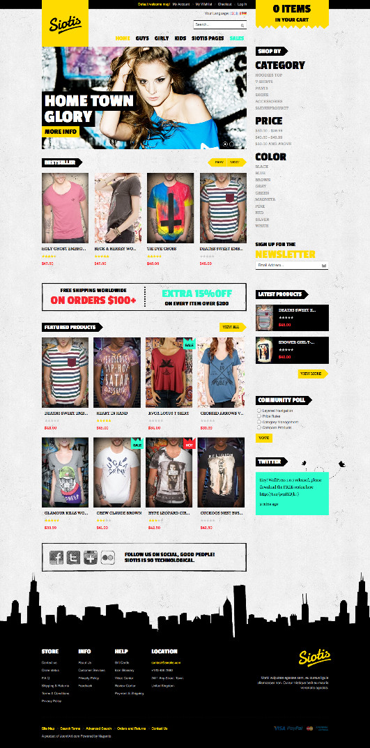 JM Siotis Magento Hip-Hop Fashion Store Theme