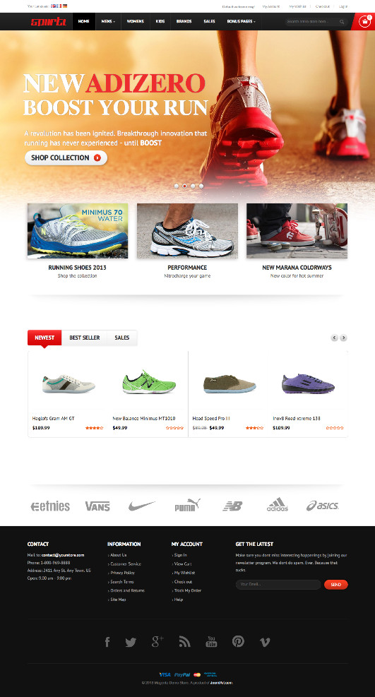 JM Sporty Magento Sport Store Theme