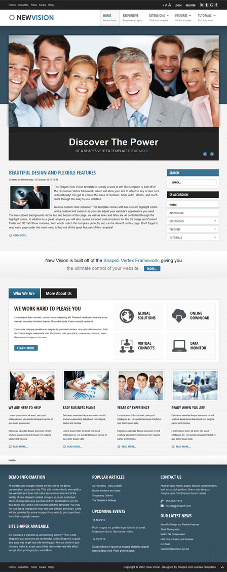 New Vision WordPress Business Theme