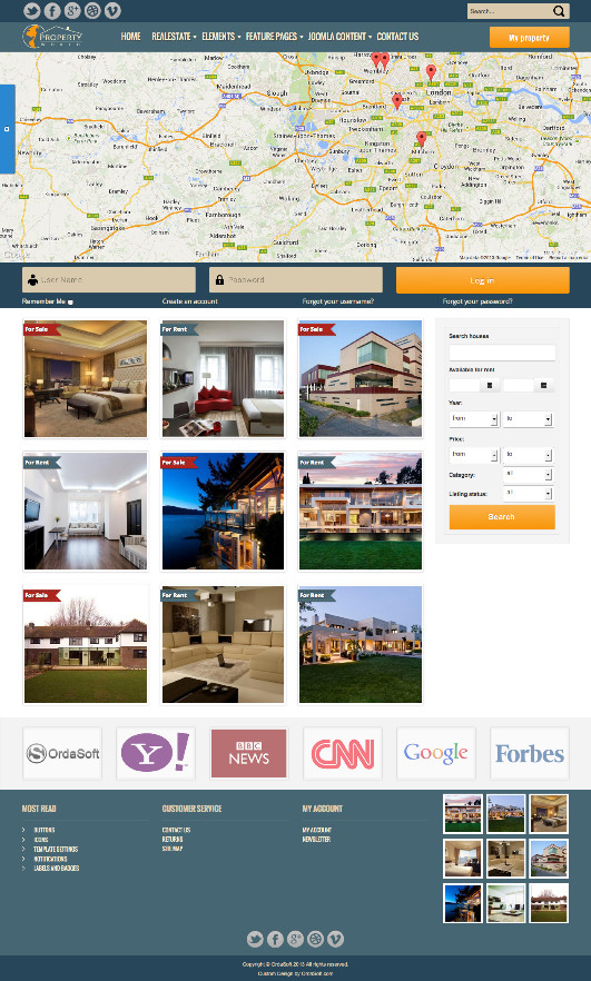 OS World Property Real Estate Template