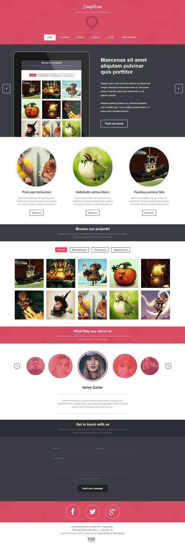 Simplicon Joomla Web Designer Portfolio Template