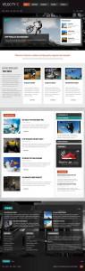 Velocity Joomla Magazine Style Template
