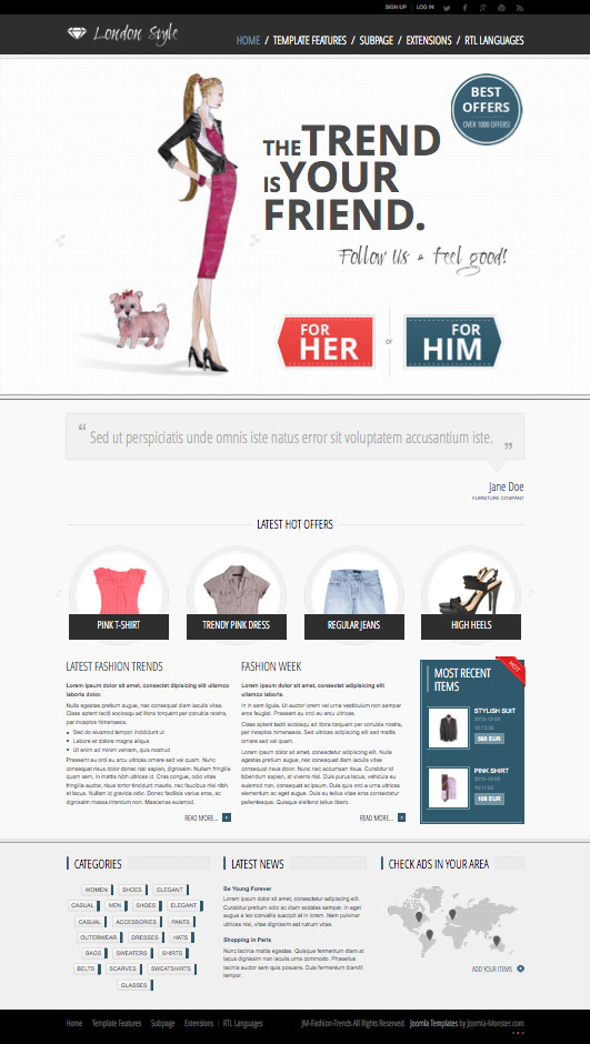 JM Fashion Trends Clothing & Garments Template